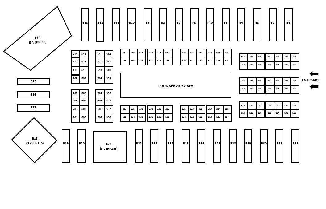 2019 OTE Exhibitor Floorplan </br>